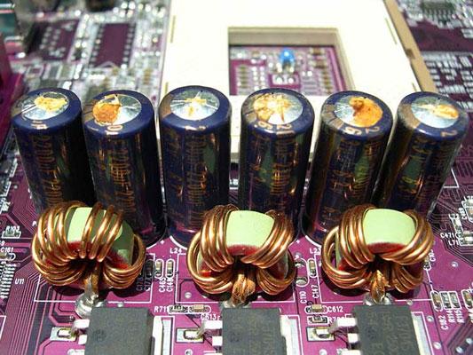 Потекшие конденсаторы